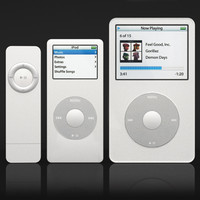 apple ipod set 3d model