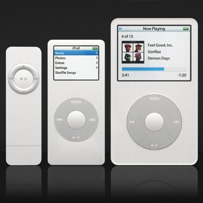 apple ipod set 3d model