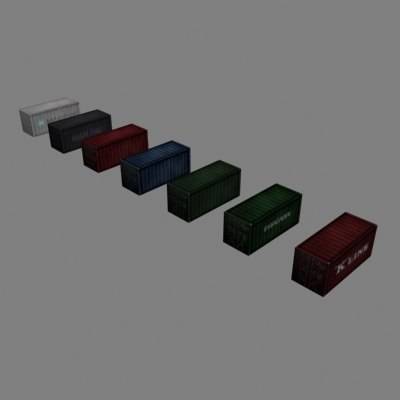 3d model shipping containers