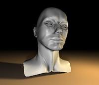 Male Head 01 c4d
