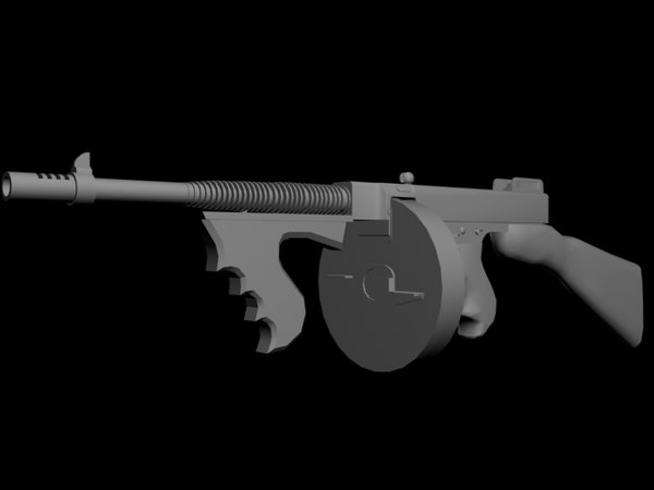 m1921 thompson chicago tommy gun 3d max