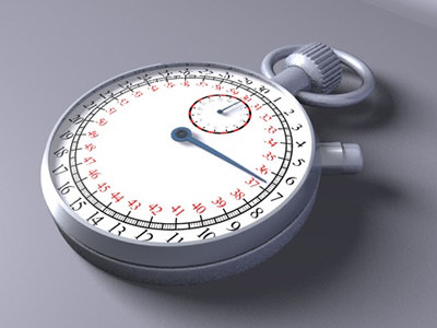 c4d metal stopwatch
