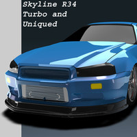 Skyline BNR34 Uniqued