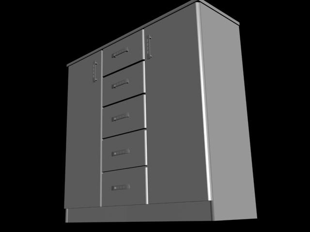 furniture cabinets drawers 3ds