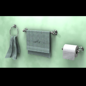lightwave bathroom towel rack