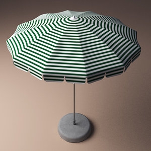 3dsmax outdoor umbrella