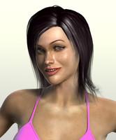 woman clothes skirt 3d model