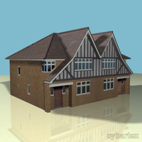 3d house semi tudor model