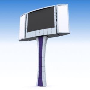 3d max blank street tv led