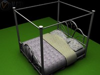 canopy bed 3d 3ds