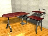 computer desk 3ds