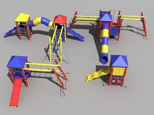 3d playground playset model