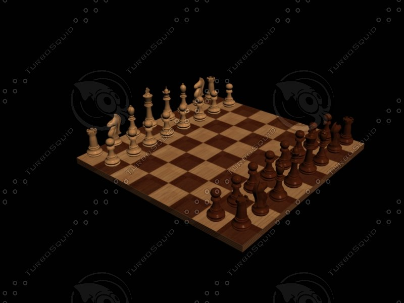 3dsmax chessboard pieces