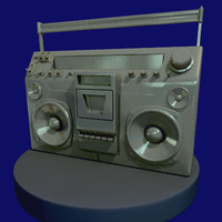 obj boombox stylized ghetto