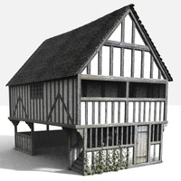 3d medieval markethall model