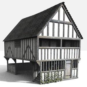 3d medieval markethall model