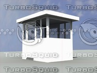 portable parking lot booth 3d model