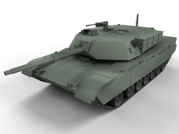 3d model m1 abrams main battle tank