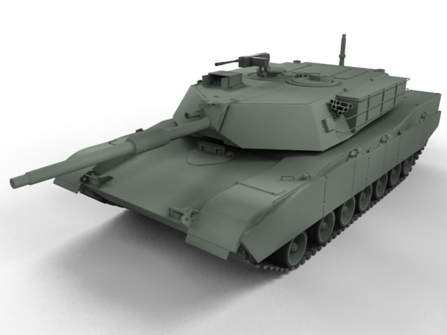 3d model m1 abrams main battle tank