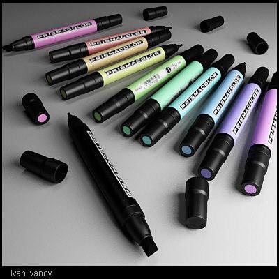 3d model prismacolor - color palette