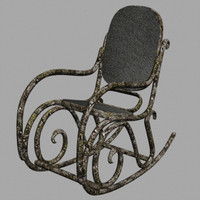 3d model of wooden rocking-chair