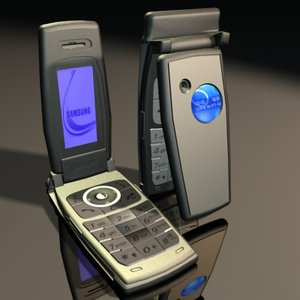 samsung mobile phone 3d model