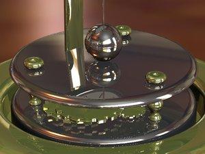 glass dome clock 3d model