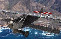 german fokker d fighter aircraft 3d model