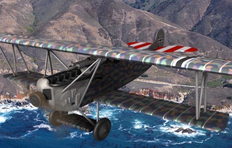 german fokker d fighter aircraft 3d model