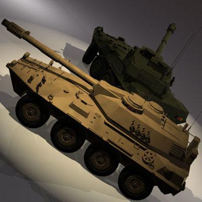 3d model centauro b1 tank destroyer