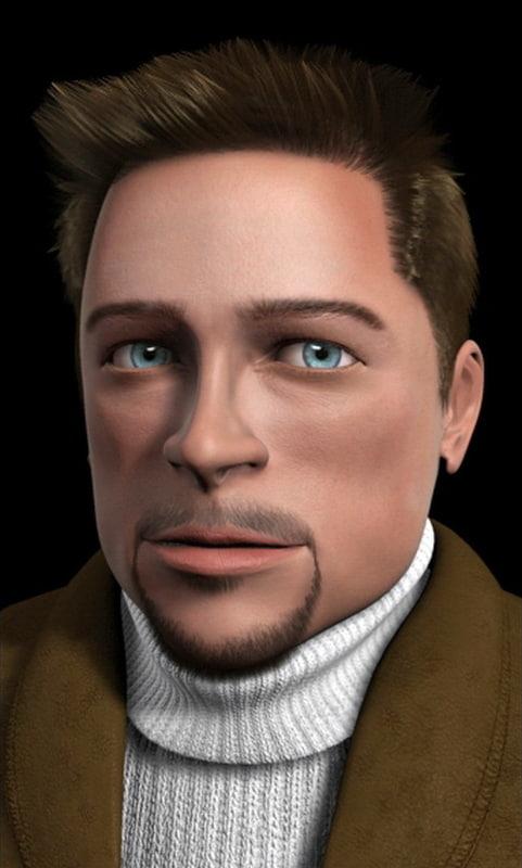 face hair 3d model