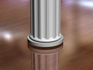 3d pillar columns