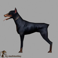 dog ready 3d model