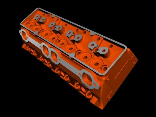 chevrolet cylinder head engine 3d model