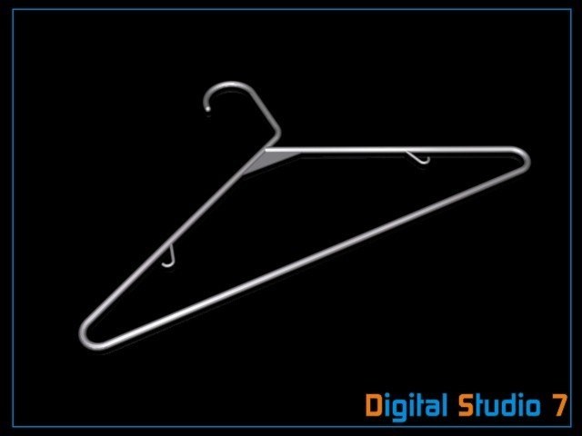 3d plastic clothes hanger model