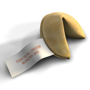 3d model fortune cookie
