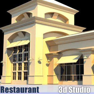 3d fine restaurant model