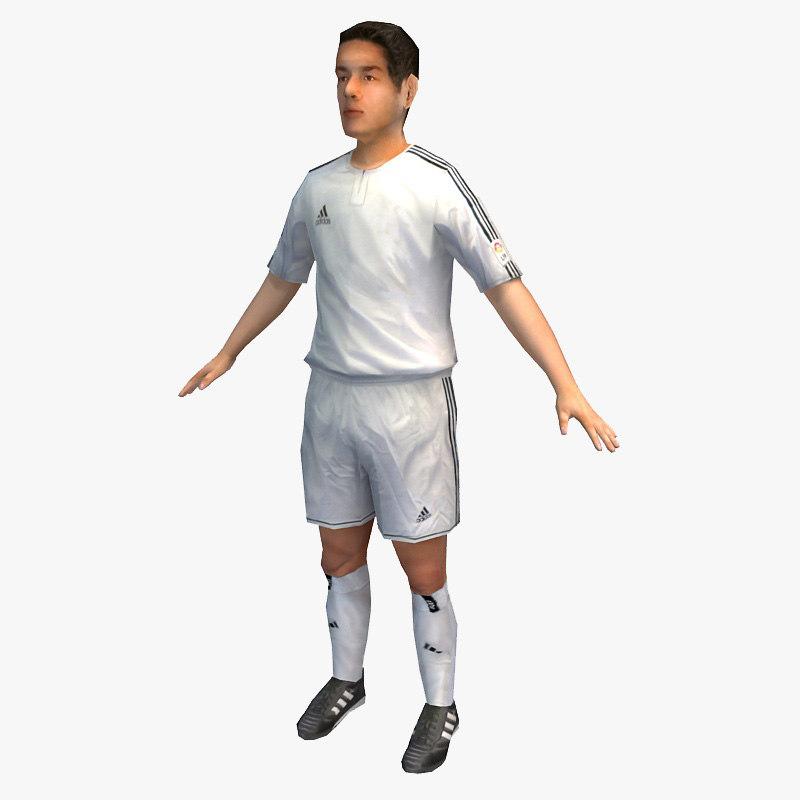 character sport 09 soccer player c4d