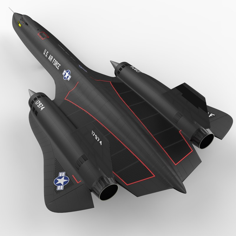 sr-71 spy plane blackbird 3d model