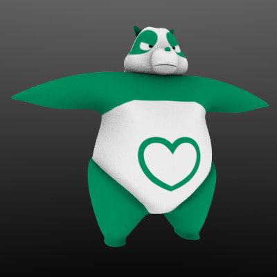 panda blender 3d model
