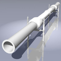 gas oil pipeline heat 3d 3ds