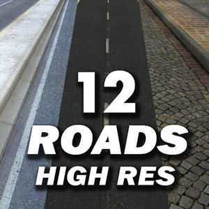 roads resolution 3d model
