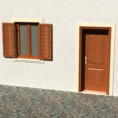 3d window door model