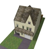 3d model storey detatched house