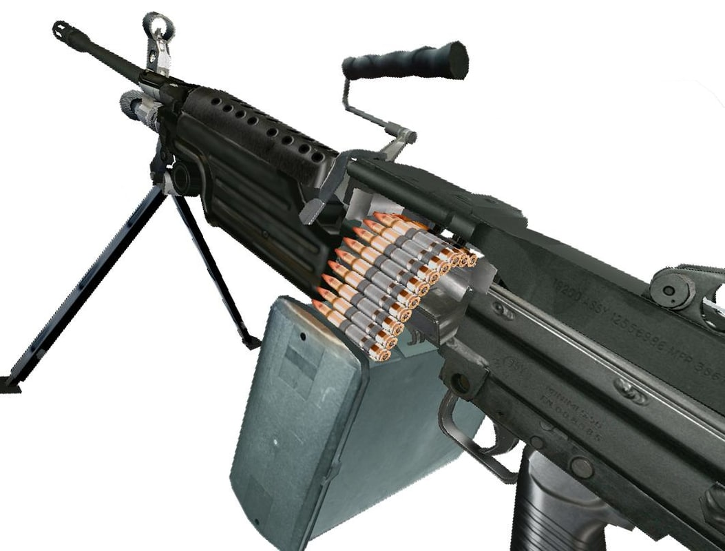 3d automatic rifle m249 saw model