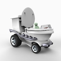 potty car 3d model
