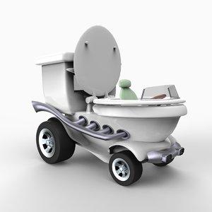 potty car 3d model