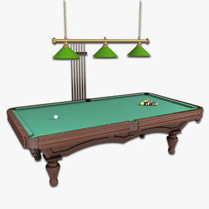 3d pool table 1 model