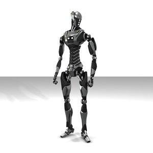 robot droiddd 3d max