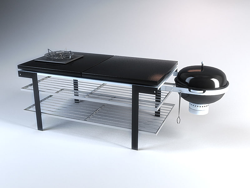 3d outdoor barbecue grill nextbase model